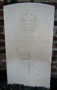 Margaret Arnold's headstone le Tréport