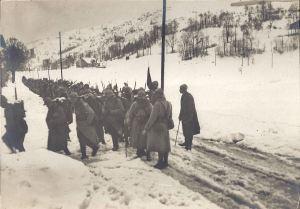 Vosges Troupes montant aux lignes